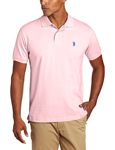 US-Polo-Assn-Mens-Solid-Polo-With-Small-Pony-Pink-Rose-Medium