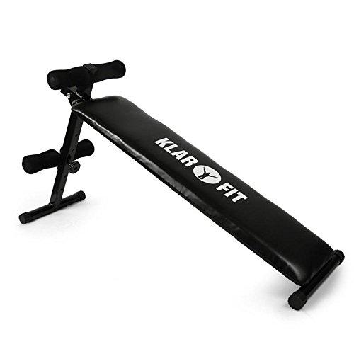Klarfit panca addominali multifunzione con manubri e allenamento bodybuilding sit up (160 KG, 5 livelli di regolazione, antiscivolo)