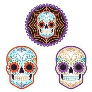 [Day of Dead Dia de Muertos Skeleton Skull Halloween Party Decoration Cutouts] (Jigsaw Costume Face Paint)