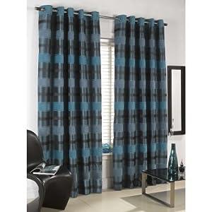 "Sundour Curtains Portobello Teal Eyelet Fully Lined Curtains 46"" x 72"" by Sundour Curtains"