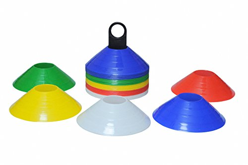 Pepup Sports Saucer Cone Marker with Plastic Stand (Set of 50), Multicolor, 2