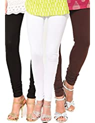 Castle Women's Leggings (Pack Of 3) (Multi_Free Size) - B00RBN4M8U