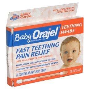 Special Pack of 5 ORAJEL BABY TEETHING SWABS 12 per pack Image