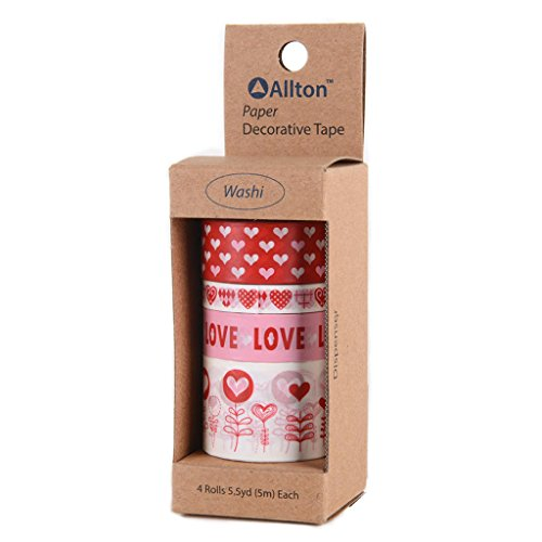 Adorox Valentine's Day Washi Masking Tape Decorative Hearts