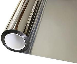 "Geo Window Films (SIL15-36015) Silver 36"" x 15' Mirror Privacy Window Film from Geo Window Films"