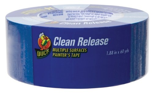 Duck Brand 1135888 1.88-Inch-by-60-Yard Clean Release Masking Tape, Blue