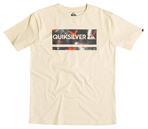 Quiksilver Uomo Classic Check My Spray T-Shirt Giallo Transparent Yellow L