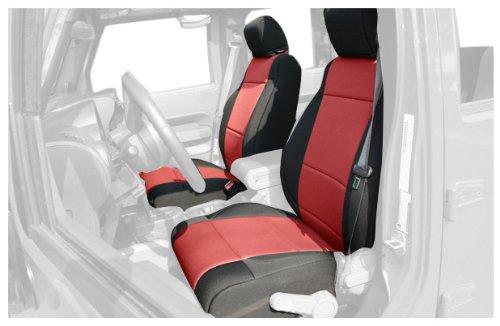 Rugged Ridge 13214.53 Black & Red Custom Neoprene Front Seat Cover - Pair front-1061132