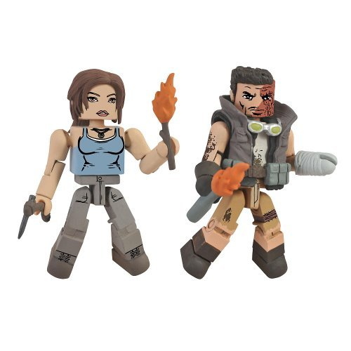 Tomb Raider Minimates Lara Croft and Scavenger Scout by Diamond Select