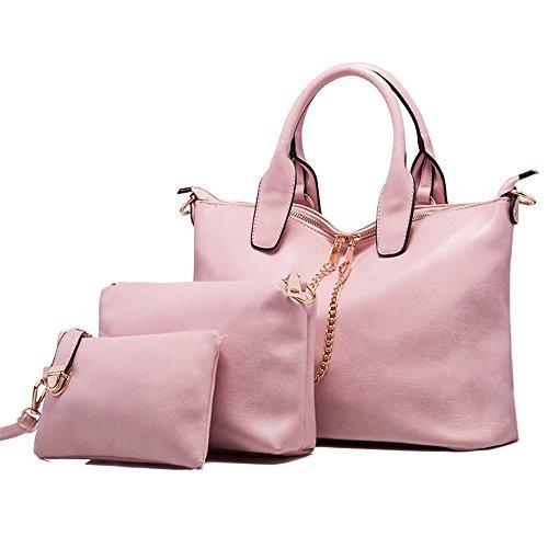 women-shoulder-bag-3-piece-tote-bag-pu-leather-handbag-purse-bags-set-pink