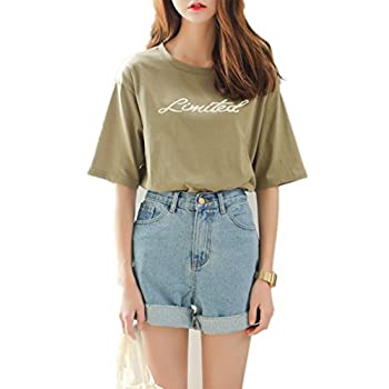 Season Show Girls Denim Shorts Retro High Waisted Jeans Shorts Pant