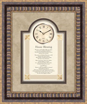 Clock House Warming Blessing Gift Framed 3D Picture Print Art Heartfelt (Heartfelt Inc compare prices)