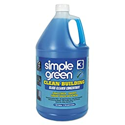 simple green SMP 11301 Clean Building Glass Cleaner Concentrate, Unscented, 1 gal Bottle (Pack of 2)