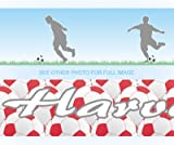 FOOTBALL personalised bedroom wall border - BLUE SK