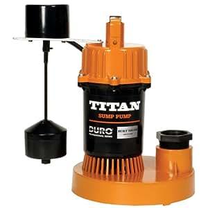 titan basement submersible sump pump 1 2 hp vertical