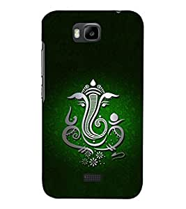 Chaturbhuj Ganesha 3D Hard Polycarbonate Designer Back Case Cover for Huawei Honor Bee :: Huawei Y5C
