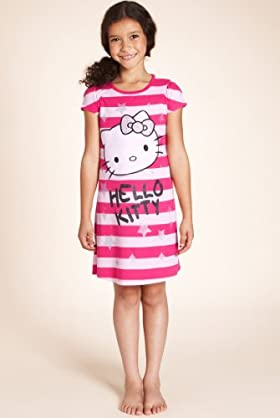 Older Girls' Hello Kitty Stripe Print Nightdress