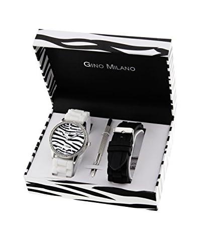 GINO MILANO Reloj de cuarzo + Set x 1 Correas intercambiables MWF14-036B 42 mm