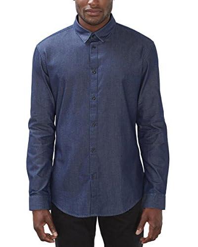 ESPRIT Collection Camisa Hombre Azul