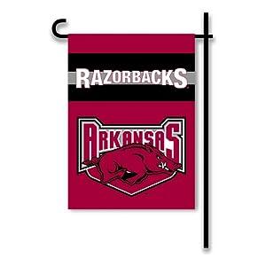 Buy NCAA Arkansas Razorbacks 2-Sided Garden Flag with Mascot by BSI