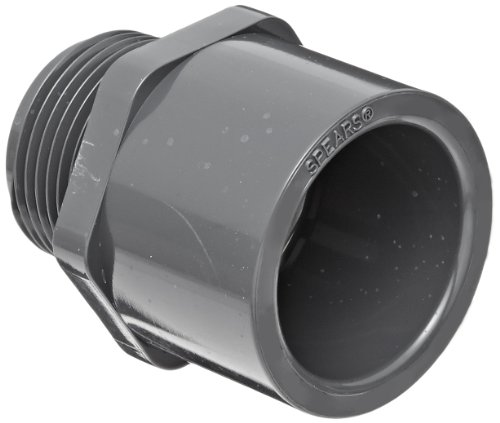 """Spears 836 Series Pvc Pipe Fitting, Adapter, Schedule 80, 2"""" Socket X Npt Male"""