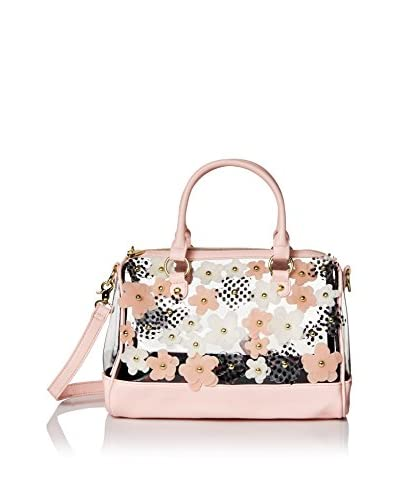 Betsey Johnson Women's Clear As Day Satchel, Blush