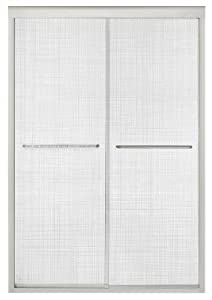 Kohler K-702208-G73-SHP Fluence Frameless Bypass Shower Door with Cavata Glass, Bright Polished Silver