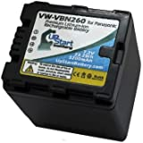 Panasonic VW-VBN130 Digital Camera Decoded Battery Replacement (3200mAh 7.2V Lithium-Ion) - Compatible With Panasonic HDC-TM900 HC-X900 HC-X900M HDC-HS900 HDC-SD900 HDC-TM900K HDC-SD800 VW-VBN130E-K VW-VBN260 HC-X800 HDC-HS900K VW-VBN130 VW-VBN260E-K HC-X