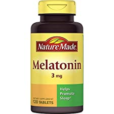 Nature Made Melatonin, 3 mg, Tablets, 120 tablets