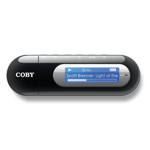 Coby MP-C855 MP3 Player with 512 MB flash Memory, FM Radio & USB Drive