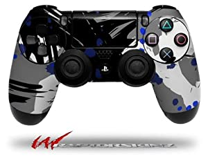 Abstract 02 Blue - Decal Style Wrap Skin fits Sony PS4 Dualshock 4 Controller - CONTROLLER NOT INCLUDED
