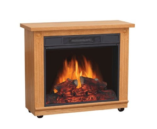 Comfort Glow EF5708 Belleville Electric Mobile Fireplace withThermostat, Traditional Oak Finish