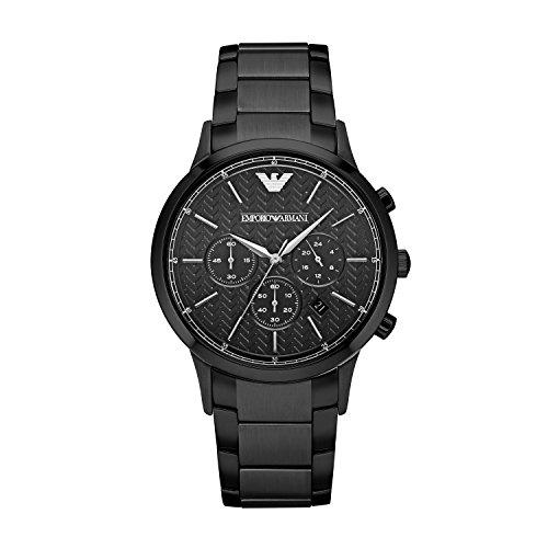 749f44edc840 Emporio Armani Reloj de cuarzo con cronógrafo y negro hombre pulsera de  acero inoxidable AR2485