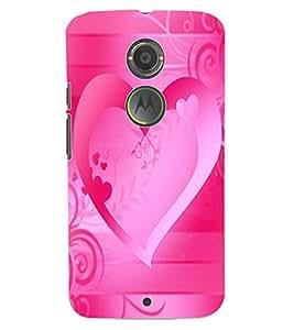 ColourCraft Love Heart Design Back Case Cover for MOTOROLA MOTO X2