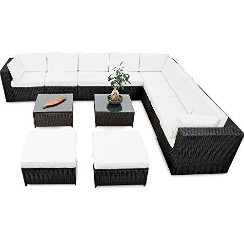 erweiterbares-35tlg-Lounge-Polyrattan-XXXL-schwarz-Garnitur-Gartenmbel-Sitzgruppe-Lounge-Set-Rattan-XXXL-inkl-Lounge-Sofa-Sessel-Ecke-Hocker-Tisch-Kissen