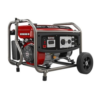 Black Max 3,650 Watt Portable Gas Generator