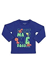 Chirpie Pie by Pantaloons Boy's Round Neck T-Shirt (205000005609882, Blue, 12-18 Months)