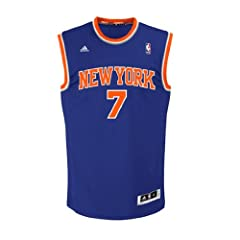 Carmelo Anthony Youth Basketball Jersey adidas Blue Replica #7 New York Knicks... by adidas