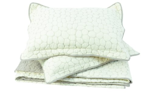 Sleeping Partners Large Pebbles Quilt/Sham Set, Queen