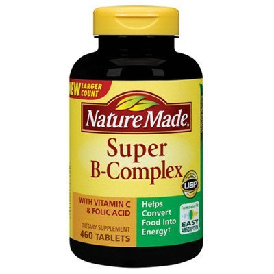 Nature Made Super B-Complex With Vitamin C And Folic Acid, 1380 Tablets