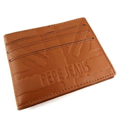 Cuoio titolare della carta 'Pepe Jeans'cognac.