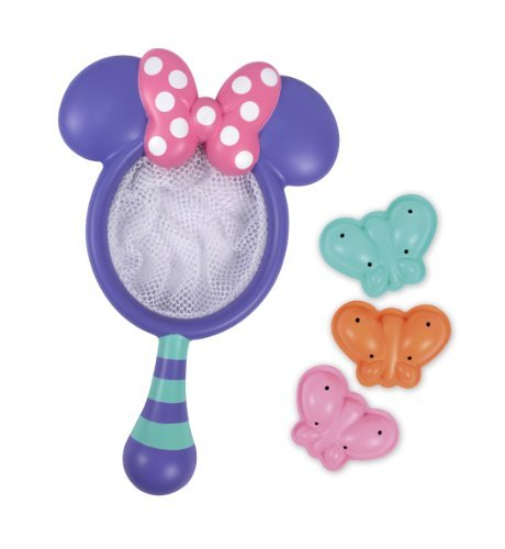 Sassy Disney Minnie Catch and Count Butterfly Net Bath Toy (Best Bathtub Toys for Toddlers