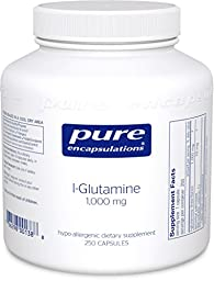 Pure Encapsulations - l-Glutamine 1000 mg. - Hypoallergenic Supplement Supports Muscle Mass and Gastrointestinal Tract* - 250 Capsules