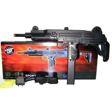 Well Electric D 91 UZI Airsoft Fully Auto Gun Airsoft (Automatic Bb Gun compare prices)