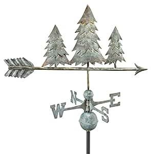 Good Directions 625V1 Pine Trees Weathervane, Blue Verde Copper
