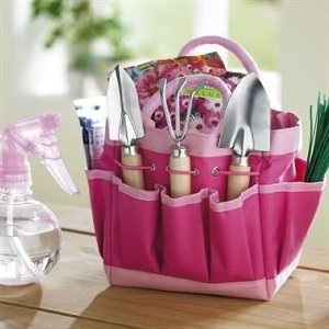Lightweight Gardening Set in Pink, Small set ideal for herb gardens