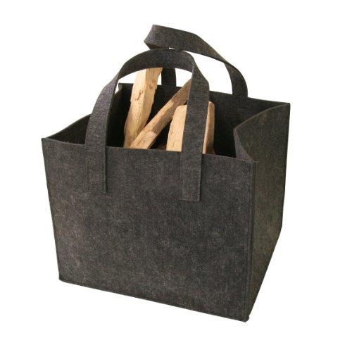Kamino-Flam-Kaminholztasche-339501-aus-hochwertigem-Filz-sehr-robust-trotz-des-geringen-Gewichts-Allzweckkorb-mit-vielen-Einsatzmglichkeiten-schonendes-Material-fr-jeden-Untergrund-mit-zwei-Henkel-zum