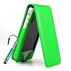 Premium PU Leather Flip Case for Apple iPhone 5S / iPhone 5 / iPhone 5C with madCase® Stylus pen & screen prortector