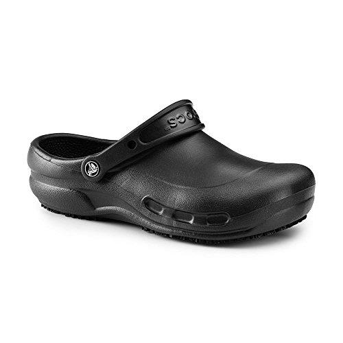 Crocs SureGrip Unisex - Adult Bistro Black Slip Resistant Work Clogs 6M (Crocs Chef Women compare prices)