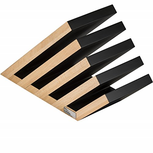 Artelegno Magnetic Knife Block Solid Beech Wood 5 Panel, Luxurious Italian Venezia Collection by Master Craftsmen Displays up to 14